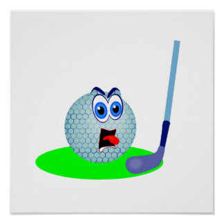 Unhappy Golf Ball T-shirts and Gifts Posters