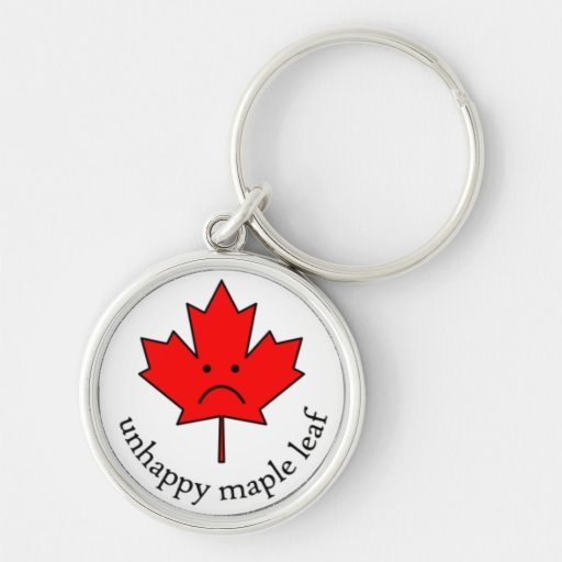 Unhappy Maple Leaf keychain