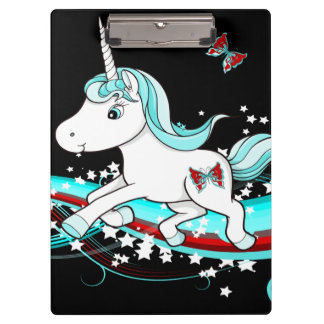 Uni Rainbow Mint Unicorn Clipboard