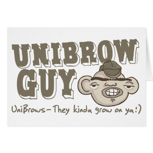 Unibrow Guy with Hat Greeting Cards