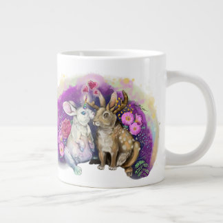 Unibunny Kisses Jackalope Magical Love Large Coffee Mug
