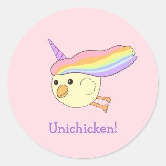 Unichicken Round Sticker