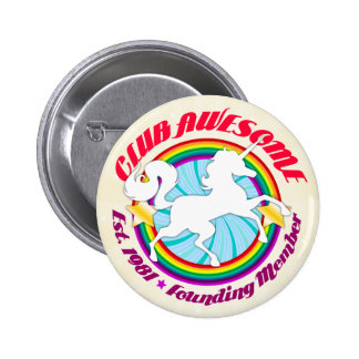 Unicorn 1981 - Club Awesome 6 Cm Round Badge