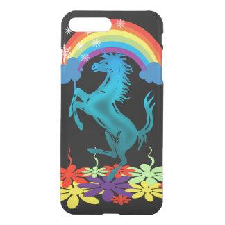 Unicorn 1 cyan with rainbow flowers iPhone 8 plus/7 plus case
