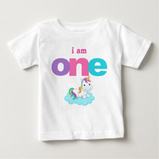Unicorn 1st Birthday T-shirt Toddler Baby Kid
