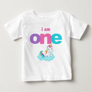 Unicorn 1st Birthday T-shirt Toddler Baby Kid