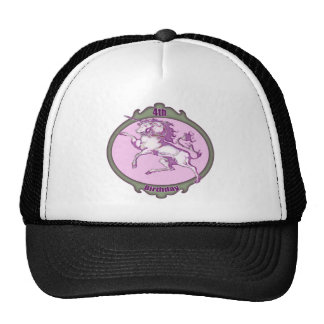 Unicorn 4th Birthday Gifts Cap