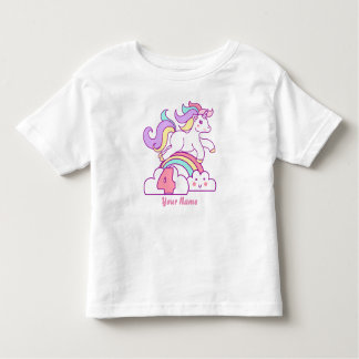 Unicorn 4th Birthday Toddler T-Shirt