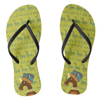 Unicorn African Queen Flip Flops
