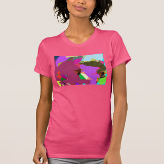 Unicorn, Alligator, and Bird Surreal Art T-Shirt