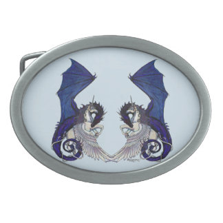 Unicorn and Dragon Belt Buckle