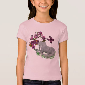 Unicorn And Flowers T Shirt