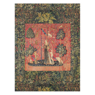 UNICORN AND GOTHIC FANTASY FLOWERS,FLORAL MOTIFS TABLECLOTH