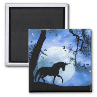 Unicorn and Moon Magnet