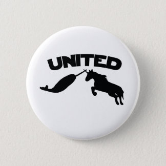 Unicorn and Narwhal 6 Cm Round Badge