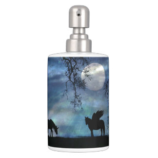 Unicorn and Pegasus Tooth Brush and Soap Dispenser
