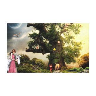 Unicorn and Princess Canvas Print
