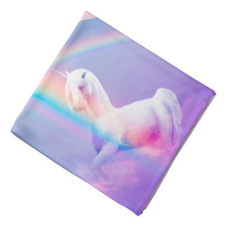 Unicorn and Rainbow Bandana