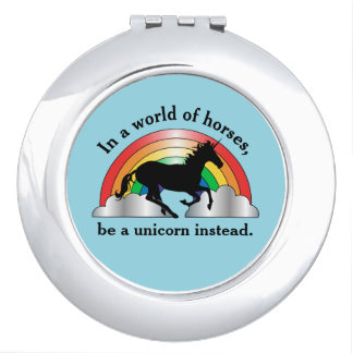 Unicorn and Rainbow Be A Unicorn Vanity Mirrors