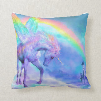 Unicorn and rainbow cushion