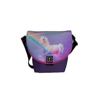 Unicorn and Rainbow Mini Messenger Bag