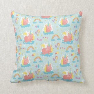 Unicorn and Rainbow Pattern Cushion