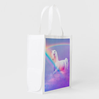 Unicorn and Rainbow Reusable Grocery Bag