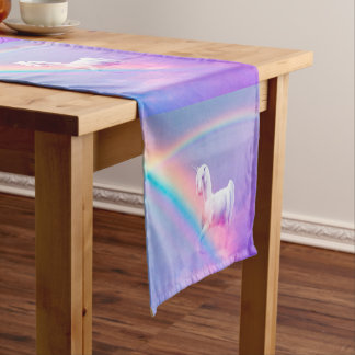 Unicorn and Rainbow Short Table Runner