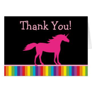 Unicorn and Rainbow Thank You Cards