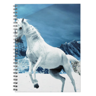Unicorn and Snow Leopard Mythical Enchanted Notebooks
