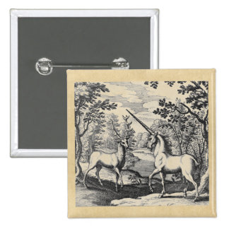 Unicorn and Stag 15 Cm Square Badge