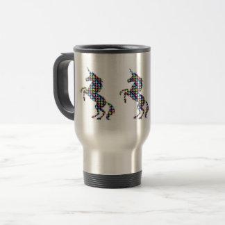 UNICORN animal fantasy dot kids  ARTISTIC GRAPHICS Travel Mug