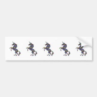 UNICORN animal fantasy dot kids navinJOSHI NVN90 Bumper Stickers