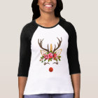 Unicorn Antler / Winter Flowers T-Shirt