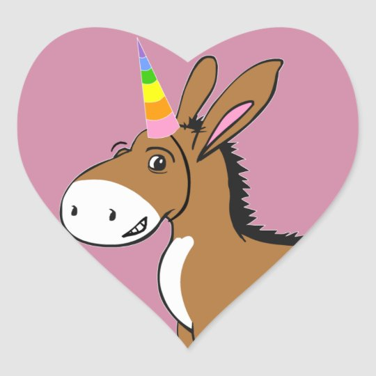 Unicorn at Heart Heart Sticker