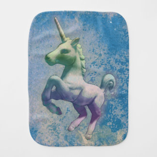 Unicorn Baby Burp Cloth (Blue Arctic)