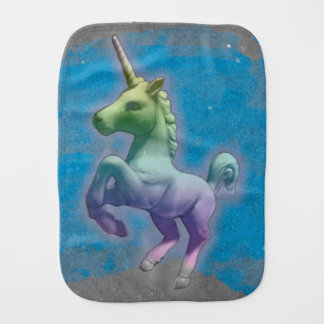Unicorn Baby Burp Cloth (Blue Nebula)