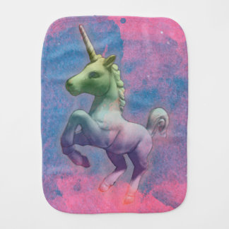 Unicorn Baby Burp Cloth (Cupcake Pink)