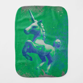 Unicorn Baby Burp Cloth (Glowing Emerald)