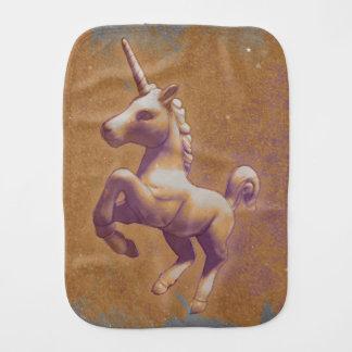 Unicorn Baby Burp Cloth (Metal Lavender)