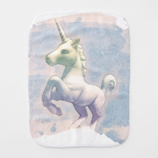Unicorn Baby Burp Cloth (Moon Dreams)