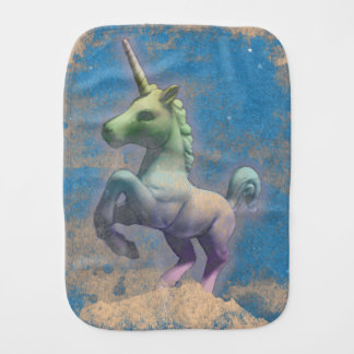 Unicorn Baby Burp Cloth (Sandy Blue)