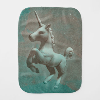 Unicorn Baby Burp Cloth (Teal Steel)