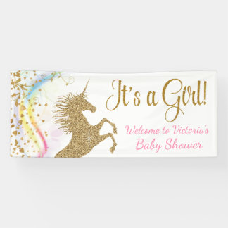 Unicorn Baby Shower Banner