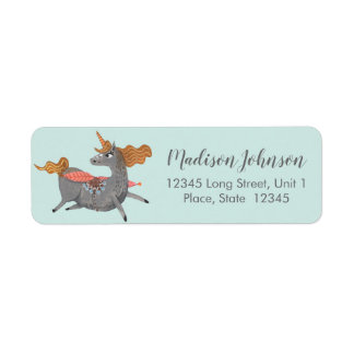 Unicorn | Baby Shower | Return Address Labels