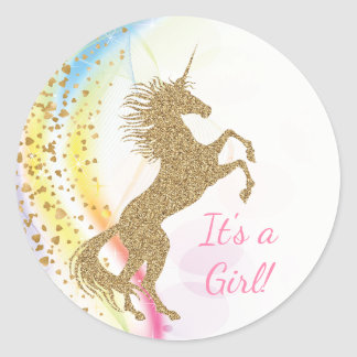 Unicorn Baby Shower Stickers