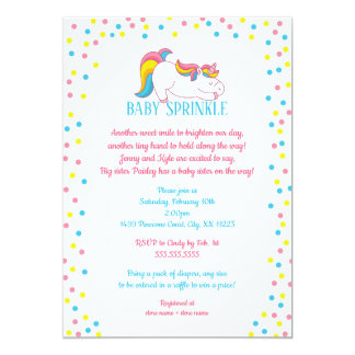 Unicorn Baby Sprinkle invitation