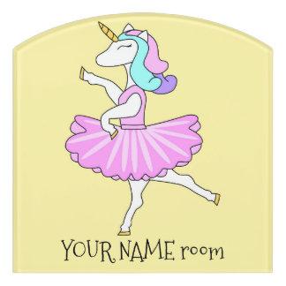Unicorn Ballerina door sign