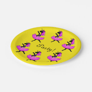 Unicorn ballerinas party paper plates 7 inch paper plate
