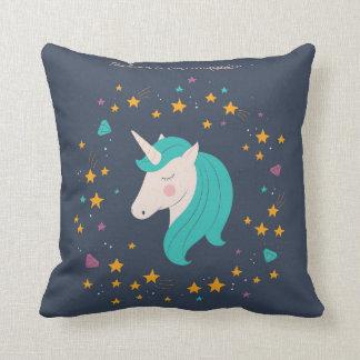 Unicorn Believe in Magic Playroom Pillow